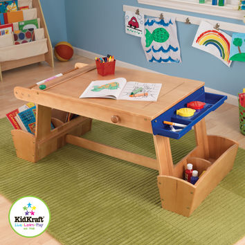 KidKraft Art Table with Drying Rack and Storage - 26954