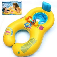Inflatable Mother Baby Swim Float Ring