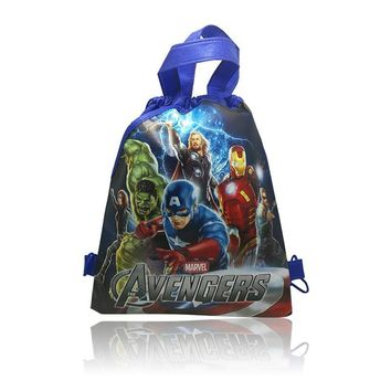1pcs Avengers Childrens Cartoon Drawstring Backpack Bags,Non-Woven Fabric Multipurpose Bags 34*27cm Kids School Party Bags
