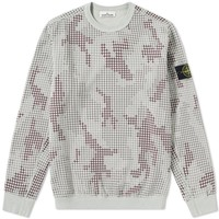 Digital Camo Grid Sweatshirt by Stone Island