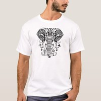 Elegant Elephant head sketch design T-Shirt