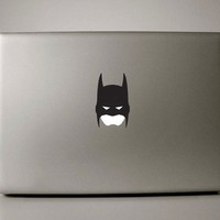 "13"" Black Batman Apple Mask Decal for Macbook, Pro and Air"
