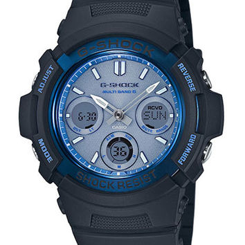 Casio Mens G-Shock Solar Multi-Band Atomic - Black - Analog - Digital - 200m