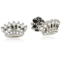 "Juicy Couture ""Replenishment"" Crown Stud Earrings"