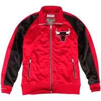 Mitchell & Ness Chicago Bulls Backboard Full Zip Track Jacket - Red