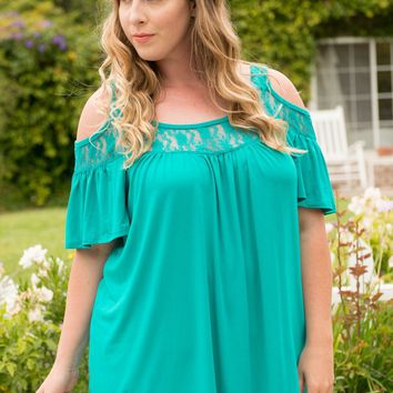 Stacy Cold-Shoulder Top
