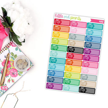Don't Forget Planner Stickers for the Erin Condren Life Planner, Important Sticker, Reminder Planner Sticker - [P0112]