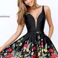 Sherri Hill 50776 Floral Print Dress | RissyRoos.com