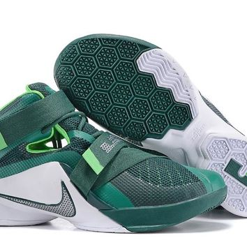 """NIke Zoom LeBron James  Soldiers 9 Ⅸ """"Emerald""""  Basketball  Shoes"""