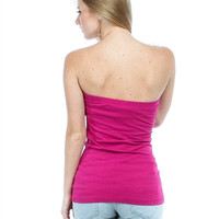 "Fuchsia Strapless Tube Top ""Summer Clearance"""