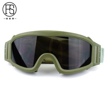 Good Quality Tactical Outdoor Airsoft Sport Safety Glasses 3 Lens Army Combat Shooting Eye Protection Goggles