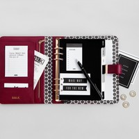 LEATHER PERSONAL PLANNER BURGUNDY: STOCKHOLM W15