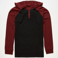 Tavik Remedy Mens Lightweight Hoodie Black/Red  In Sizes