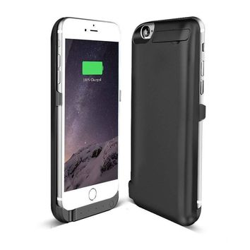 For Apple iPhone 6/6s Battery Rechargeable Charger Portable Charging Case Black