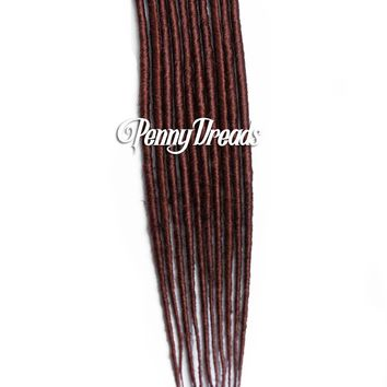 Auburn Single Ended Synthetic Dreadlock Extensions 20""