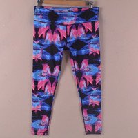 Mix-Color Fashion Pattern Running Yoga Pants