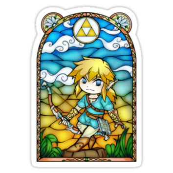 'Breath of the Wild Stained Glass' Sticker by Ranefea