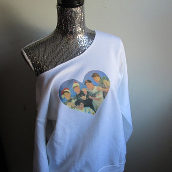 New Kids On The Block Christmas Off The Shoulder Sweater
