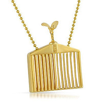 RR Grill Necklace Gold