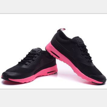 Nike Air Max Thea Print Casual Sports Shoes black-pink soles
