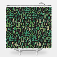 Tiny Trees Shower Curtain