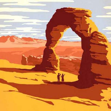 Arches National Park Utah Travel Poster 11x17