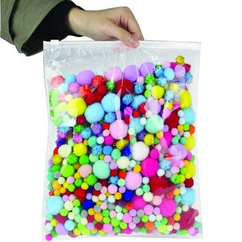 1000PC Assorted DIY Pom-Poms