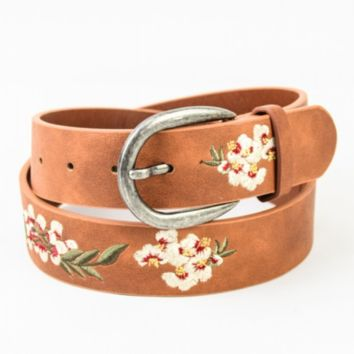 Hibiscus Embroidered Bohemian Belt