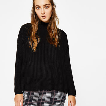 Sweater with choker neck - Knitwear - Bershka United States