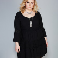 Tiered Bell Sleeve Hippie Dress | Wet Seal+