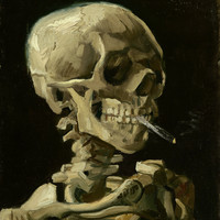 Vincent Van Gogh Skull With Cigarette Poster