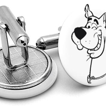 Scooby Doo Black White Cufflinks