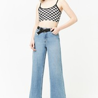 Checkered Cami Crop Top