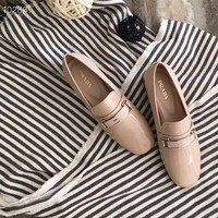 Superior quality  Prada Women Casual Shoes Boots  fashionable casual leather Women Heels Sandal Shoes