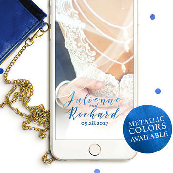 Snapchat Personalized Geofilter for Wedding-Calligraphy Snapchat Filter-Custom Snapchat Filter Wedding-Elegant Calligraphy Snapchat Filter
