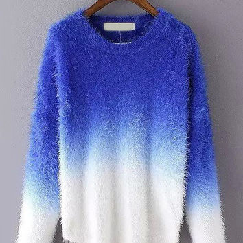 Long Sleeve Ombre Sweater