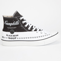 Converse Chuck Taylor All Star Warhol Hi Shoes Black/White  In Sizes