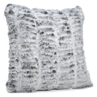 Frosted Grey Mink Faux Fur Pillows by Fabulous Furs