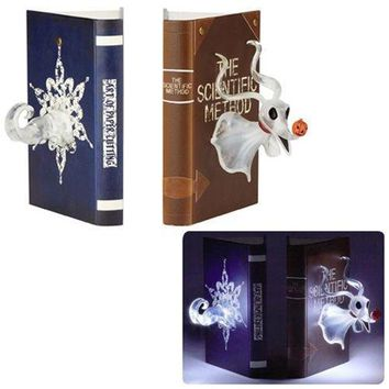 "Enesco Disney Showcase ""The Nightmare Before Christmas"" Zero Stone Resin Bookends, 8"" , Multicolor"