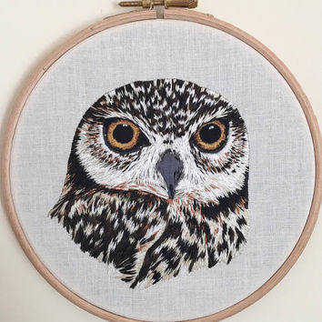 The Owl Embroidery