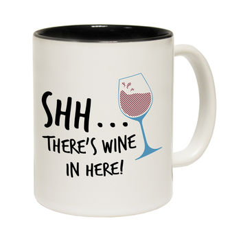 123t USA Shh ... There's Wine In Here Funny Mug