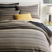 Organic Washed Woven Dot Duvet Cover + Shams