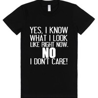 Yes, I Know What I Look Like-Female Black T-Shirt