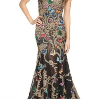 Mac Duggal Butterfly Lace Appliqué Gown | Nordstrom
