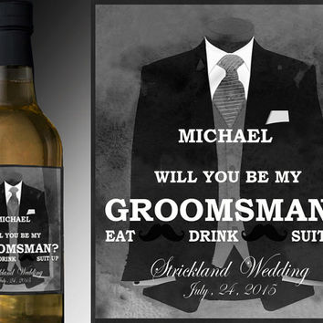 will you be my groomsman groomsmen gift ideas beer labes groomsmen gift set  best man gift groomsman gift unique wedding gift