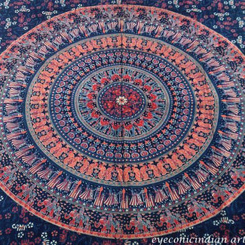 INDIA BEDDING SHEET bedspread wall hanging tapestry ethnig decor vintage india hippy boho decor art@135
