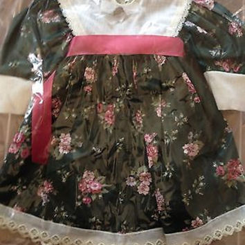 """American Girl Size 18"""" New MIP  Fine Cotton Holiday Dress For Grace Thomas Doll"""