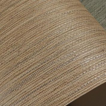 Realistic Faux Grasscloth Textured Wallpaper Metallic Horizontal Grass Cloth Wall Covering Woven Wall Paper Beige Taupe Tan Grey