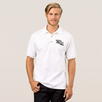 Wild Pig Boar Jumping Isolated Polo Shirt