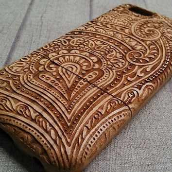 Wood iPhone case,Abstract floral, iphone6/pluscase, iphone 5 case,iphone 4 case, iphone 5c case, wood case, iphone case, accessory, gift